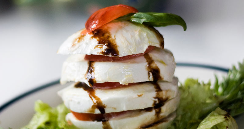 Mozzarella and balsamic vinegar